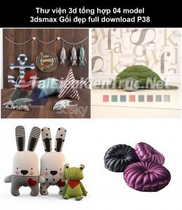 Thư viện 3d tổng hợp 04 Model 3dsmax Gối đẹp full download P38