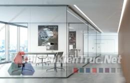 Phối cảnh 3d thiết kế nội thất văn phòng 063 full download