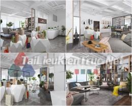 Phối cảnh 3d thiết kế nội thất văn phòng 065 full download
