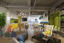Phối cảnh 3d thiết kế nội thất văn phòng 066 full download