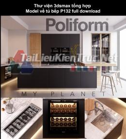 Thư viện 3dsmax tổng hợp Model về tủ bếp P132 full download