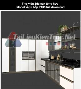 Thư viện 3dsmax tổng hợp Model về tủ bếp P135 full download