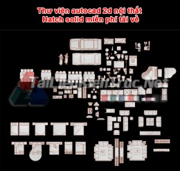 Thư viện autocad 2d nội thất Hatch solid miễn phí tải về