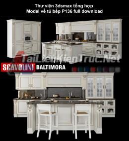 Thư viện 3dsmax tổng hợp Model về tủ bếp P136 full download