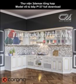 Thư viện 3dsmax tổng hợp Model về tủ bếp P137 full download