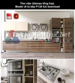 Thư viện 3dsmax tổng hợp Model về tủ bếp P138 full download
