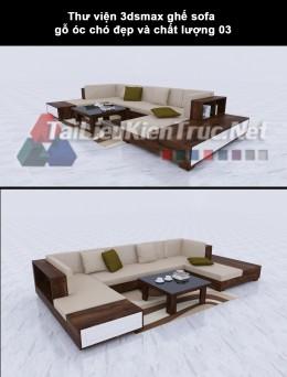 Thư viện 3dsmax ghế sofa gỗ óc chó đẹp và chất lượng 03