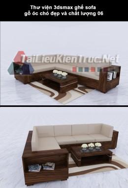 Thư viện 3dsmax ghế sofa gỗ óc chó đẹp và chất lượng 06