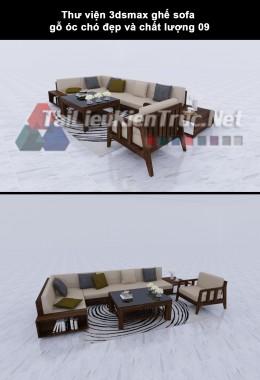 Thư viện 3dsmax ghế sofa gỗ óc chó đẹp và chất lượng 09