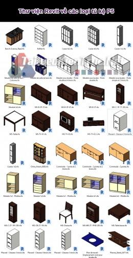 Thư viện Revit về các loại tủ kệ P5
