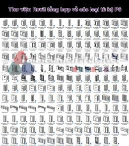 Thư viện Revit tổng hợp về các loại tủ kệ P6