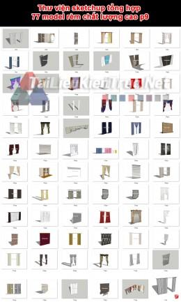 Thư viện sketchup tổng hợp 77 model rèm chất lượng cao p9