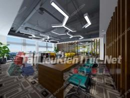 Phối cảnh 3d thiết kế nội thất văn phòng 068 full download