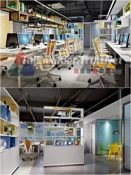 Phối cảnh 3d thiết kế nội thất văn phòng 069 full download