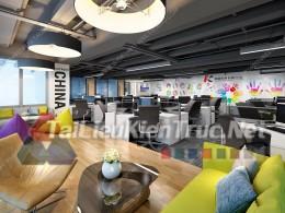 Phối cảnh 3d thiết kế nội thất văn phòng 070 full download
