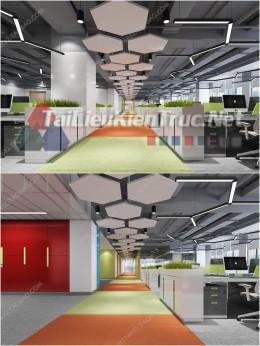 Phối cảnh 3d thiết kế nội thất văn phòng 072 full download