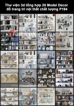 Thư viện 3d tổng hợp 20 Model Decor đồ trang trí nội thất chất lượng P194
