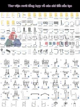 Thư viện revit tổng hợp về các chi tiết cấu tạo