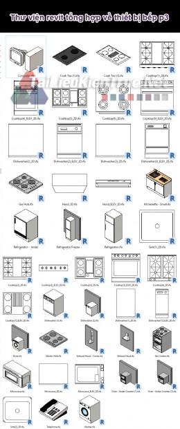 Thư viện revit tổng hợp về thiết bị bếp p3
