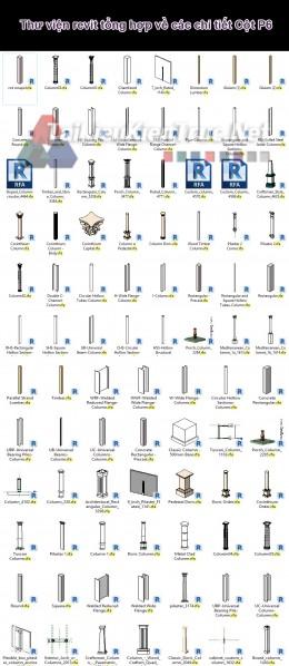 Thư viện revit tổng hợp về các chi tiết Cột P6