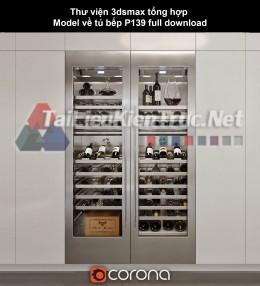 Thư viện 3dsmax tổng hợp Model về tủ bếp P139 full download