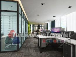 Phối cảnh 3d thiết kế nội thất văn phòng 073 full download