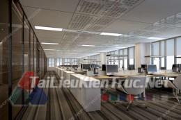 Phối cảnh 3d thiết kế nội thất văn phòng 077 full download