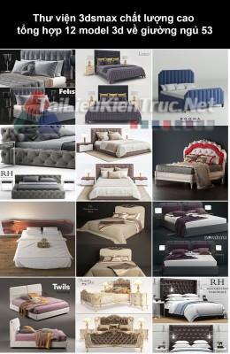Thư viện 3dsmax chất lượng cao tổng hợp 12 Model 3d về Giường ngủ 53