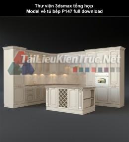 Thư viện 3dsmax tổng hợp Model về tủ bếp P147 full download