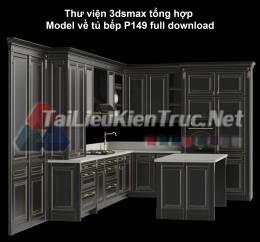 Thư viện 3dsmax tổng hợp Model về tủ bếp P149 full download