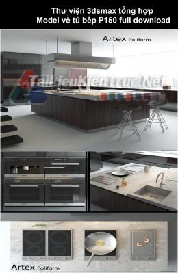 Thư viện 3dsmax tổng hợp Model về tủ bếp P150 full download