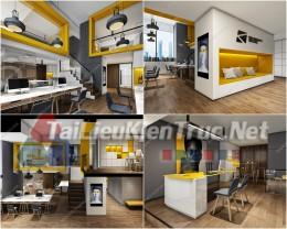 Phối cảnh 3d thiết kế nội thất văn phòng 079 full download