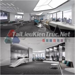 Phối cảnh 3d thiết kế nội thất văn phòng 081 full download