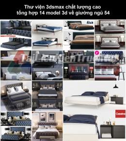 Thư viện 3dsmax chất lượng cao tổng hợp 14 Model 3d về Giường ngủ 54