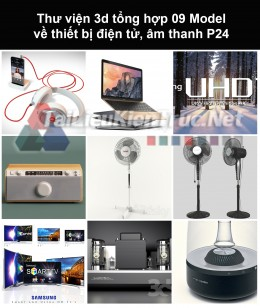 Thư viện 3d tổng hợp 09 model về thiết bị điện tử, âm thanh P24