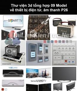 Thư viện 3d tổng hợp 09 model về thiết bị điện tử, âm thanh P26