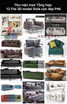 Thư viện max Tổng hợp 12 File 3D model Sofa cực đẹp P48