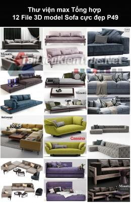 Thư viện max Tổng hợp 12 File 3D model Sofa cực đẹp P49