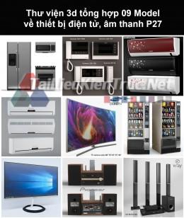 Thư viện 3d tổng hợp 09 model về thiết bị điện tử, âm thanh P27