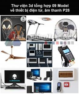 Thư viện 3d tổng hợp 09 model về thiết bị điện tử, âm thanh P28
