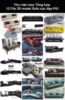 Thư viện max Tổng hợp 12 File 3D model Sofa cực đẹp P51