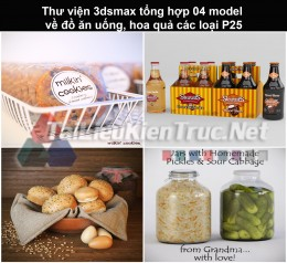 Thư viện 3dsmax tổng hợp 04 model về đồ ăn uống, hoa quả các loại P25