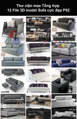 Thư viện max Tổng hợp 12 File 3D model Sofa cực đẹp P52
