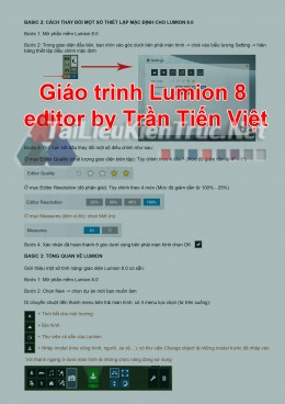 Giáo trình Lumion 8 editor by Trần Tiến Việt