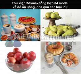 Thư viện 3dsmax tổng hợp 04 model về đồ ăn uống, hoa quả các loại P30