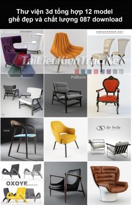 Thư viện 3d Tổng hợp 12 model ghế đẹp và chất lượng 087 download