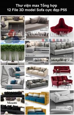 Thư viện max Tổng hợp 12 File 3D model Sofa cực đẹp P55