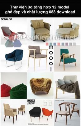 Thư viện 3d Tổng hợp 12 model ghế đẹp và chất lượng 088 download