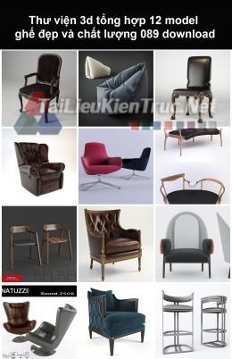 Thư viện 3d Tổng hợp 12 model ghế đẹp và chất lượng 089 download