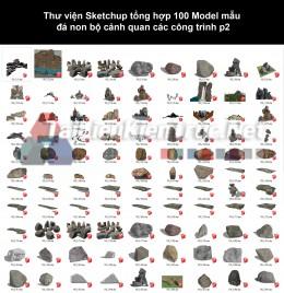 Thư viện Sketchup tổng hợp 100 Model mẫu đá non bộ cảnh quan các công trình p2